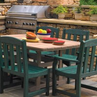 poly outdoor dinning series