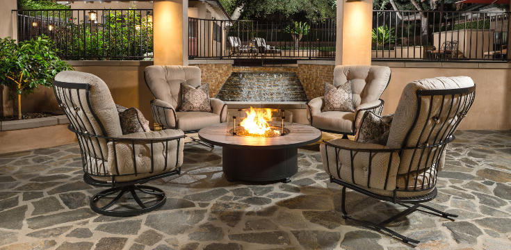 Monterra metal patio furniture collection