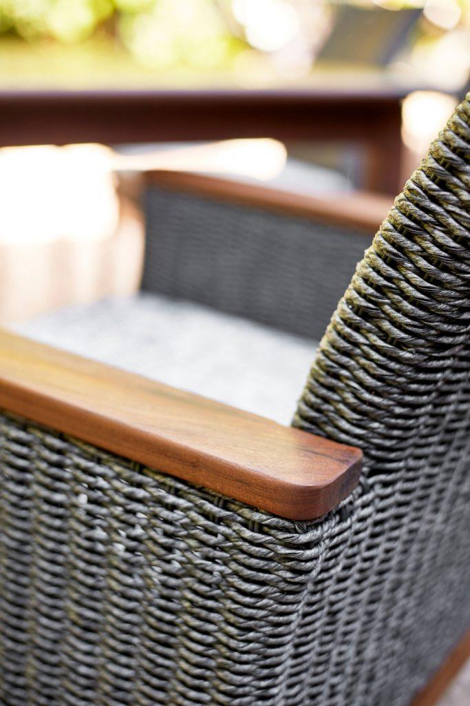 ipe wood woven patio furniture