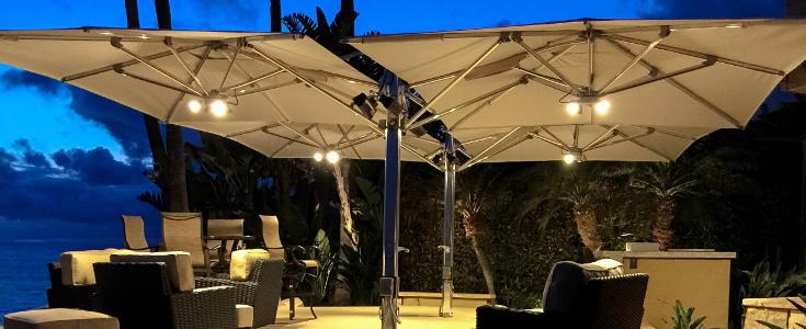 Tuuci Dual Cantilever Outdoor Umbrellas